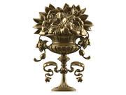 dekoracja ulgi wazon kwiatowy 3d model