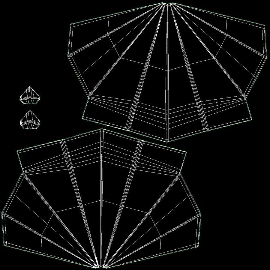 Avião de papel royalty-free 3d model - Preview no. 7