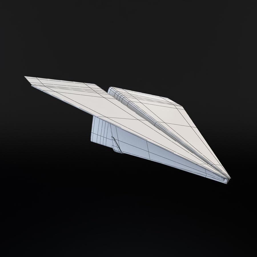 Avião de papel royalty-free 3d model - Preview no. 5
