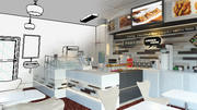 CAFE INTERIOR CONCEPT ARCHITECTURAL 3d model