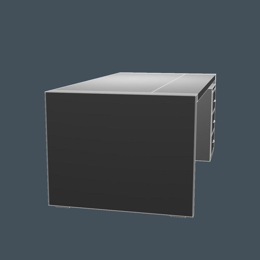 经理桌 royalty-free 3d model - Preview no. 6