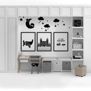 Modern Scandinavian Kid Room Study Corner 3d model