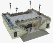 Fantasy Square Stairs 3d model