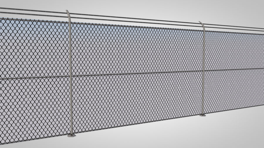 clôture royalty-free 3d model - Preview no. 5
