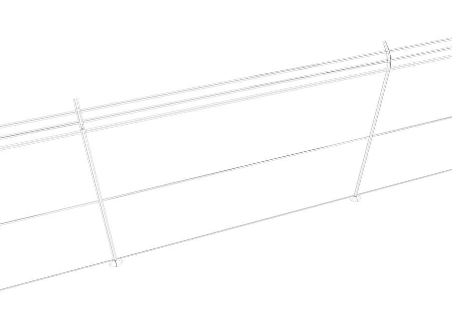 clôture royalty-free 3d model - Preview no. 3