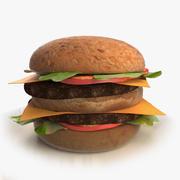 Гамбургер (двойной чизбургер) 3d model