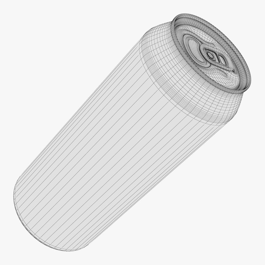 Aluminum Can 1 royalty-free 3d model - Preview no. 9