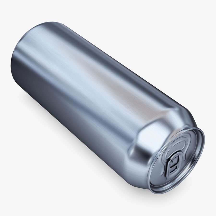 Aluminum Can 1 royalty-free 3d model - Preview no. 4