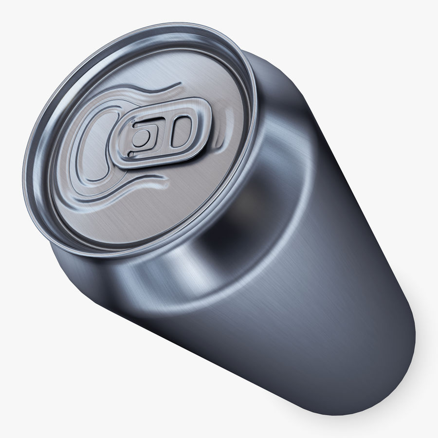 Aluminum Can 1 royalty-free 3d model - Preview no. 8