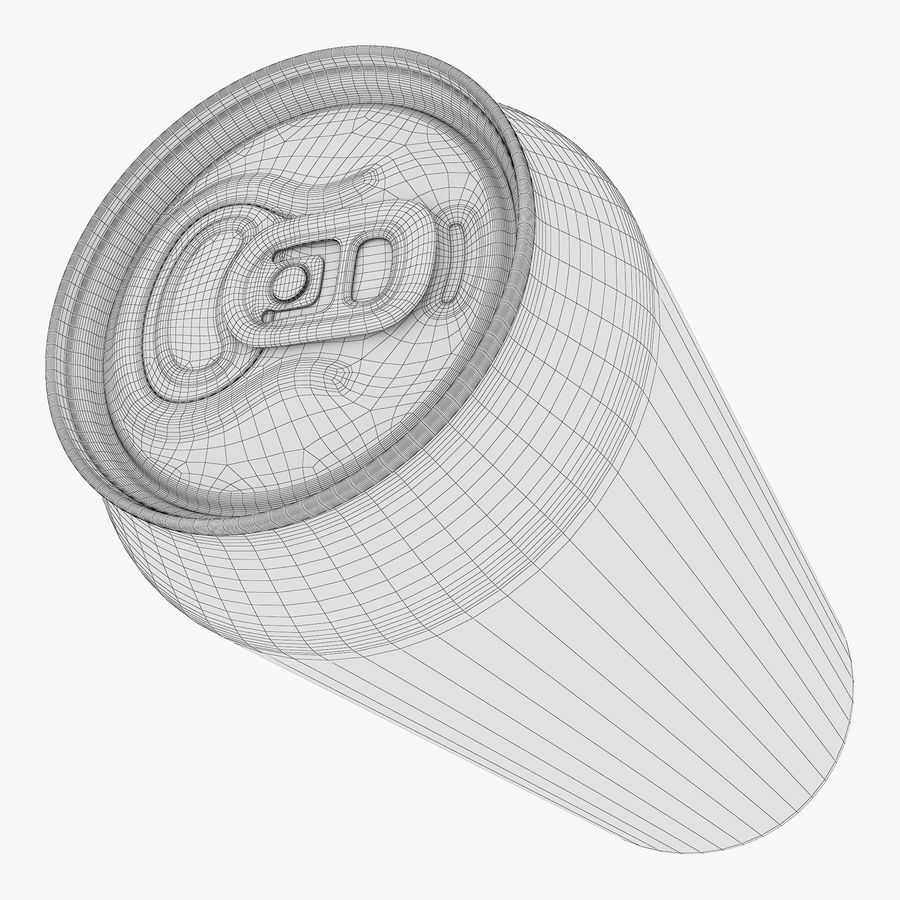 Aluminum Can 1 royalty-free 3d model - Preview no. 16