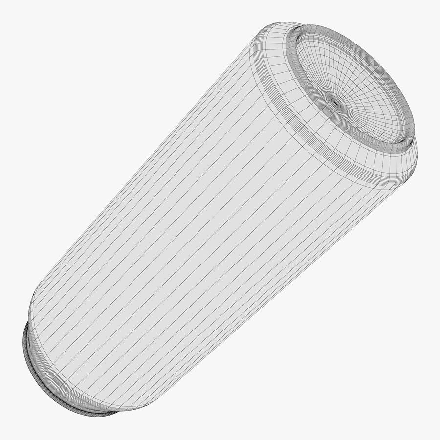 Aluminum Can 1 royalty-free 3d model - Preview no. 10