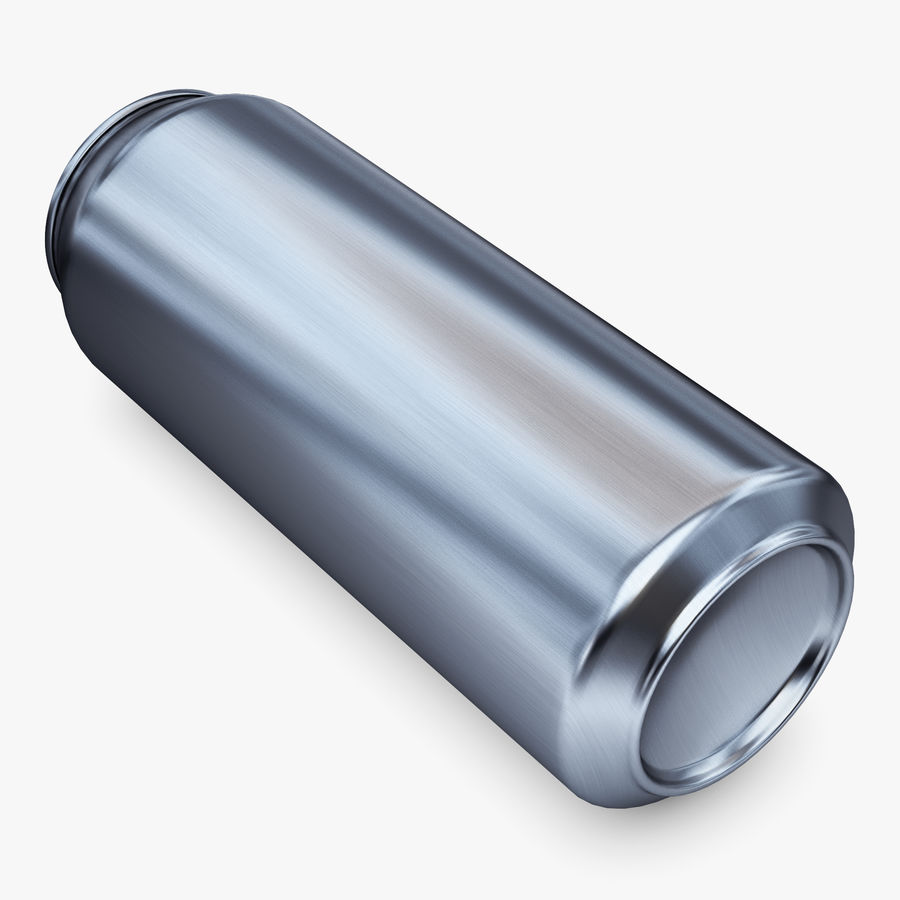 Aluminum Can 1 royalty-free 3d model - Preview no. 5