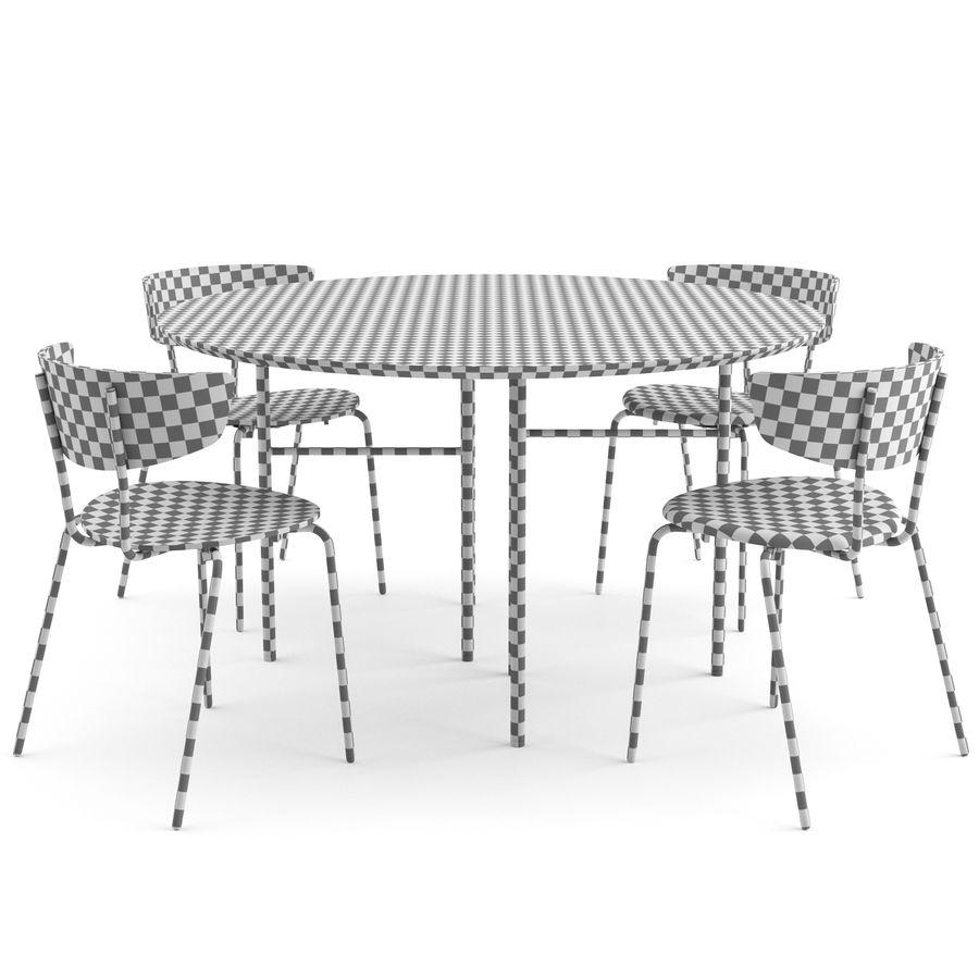 Krzesło Herman + Okrągły stół Mingle firmy ferm LIVING royalty-free 3d model - Preview no. 4