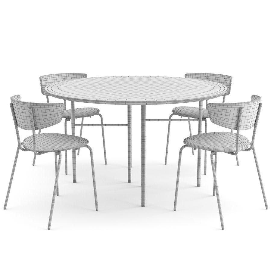 Krzesło Herman + Okrągły stół Mingle firmy ferm LIVING royalty-free 3d model - Preview no. 5