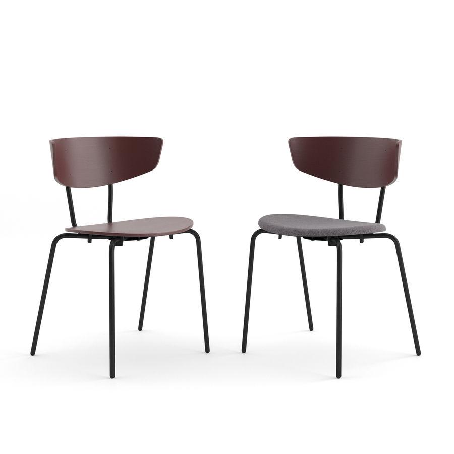 Krzesło Herman + Okrągły stół Mingle firmy ferm LIVING royalty-free 3d model - Preview no. 2