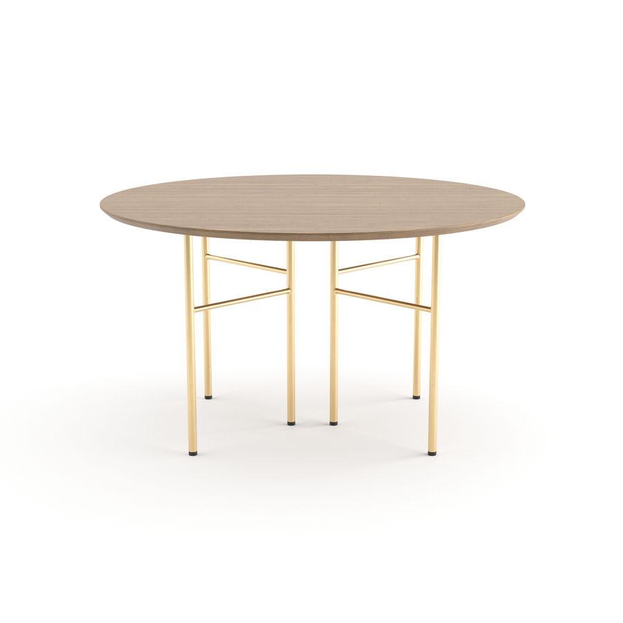 Krzesło Herman + Okrągły stół Mingle firmy ferm LIVING royalty-free 3d model - Preview no. 3