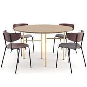 Herman Chair + Mingle Table Round van ferm LIVING 3d model