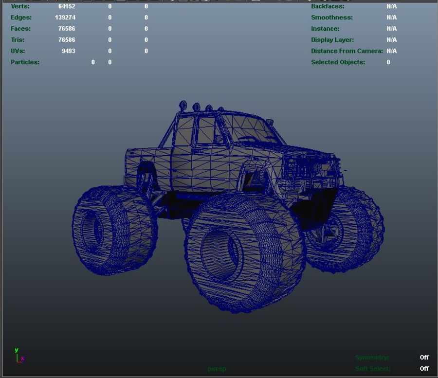 6 Canavar Kamyon Paketi Düşük Poli 3D model royalty-free 3d model - Preview no. 10