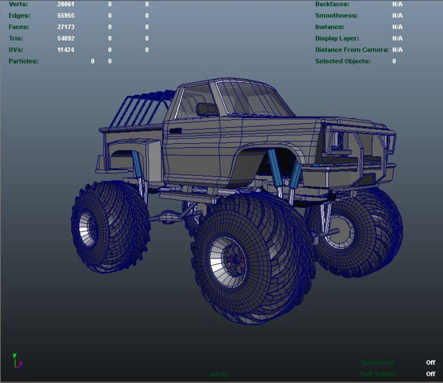 6 Canavar Kamyon Paketi Düşük Poli 3D model royalty-free 3d model - Preview no. 9
