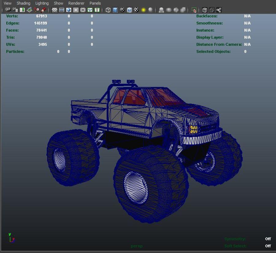 6 Canavar Kamyon Paketi Düşük Poli 3D model royalty-free 3d model - Preview no. 14