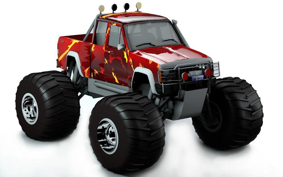 6 Canavar Kamyon Paketi Düşük Poli 3D model royalty-free 3d model - Preview no. 7