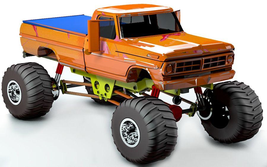 6 Canavar Kamyon Paketi Düşük Poli 3D model royalty-free 3d model - Preview no. 2