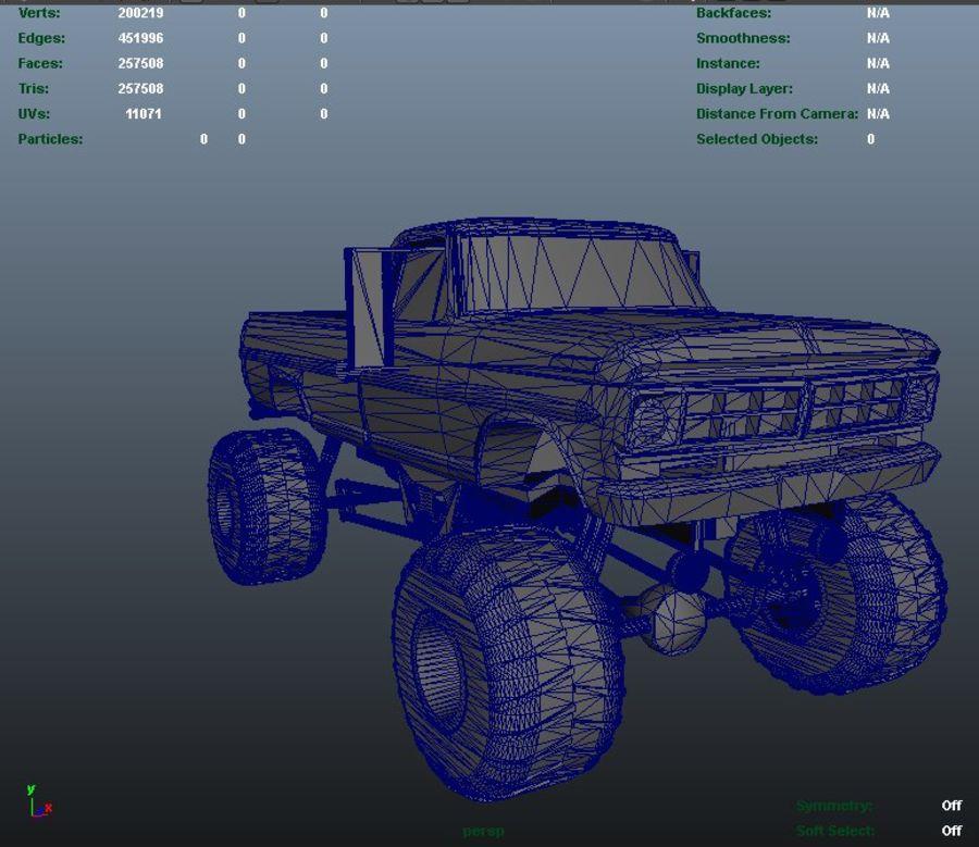 6 Canavar Kamyon Paketi Düşük Poli 3D model royalty-free 3d model - Preview no. 12