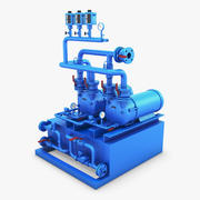 Compressore industriale generico 1 3d model