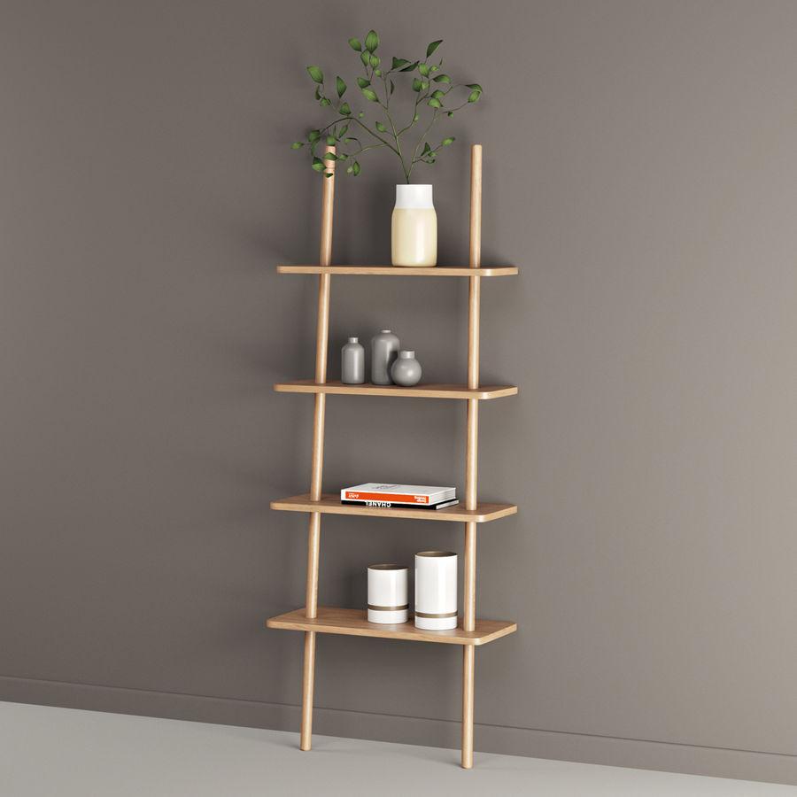 Oak Display Shelf royalty-free 3d model - Preview no. 5