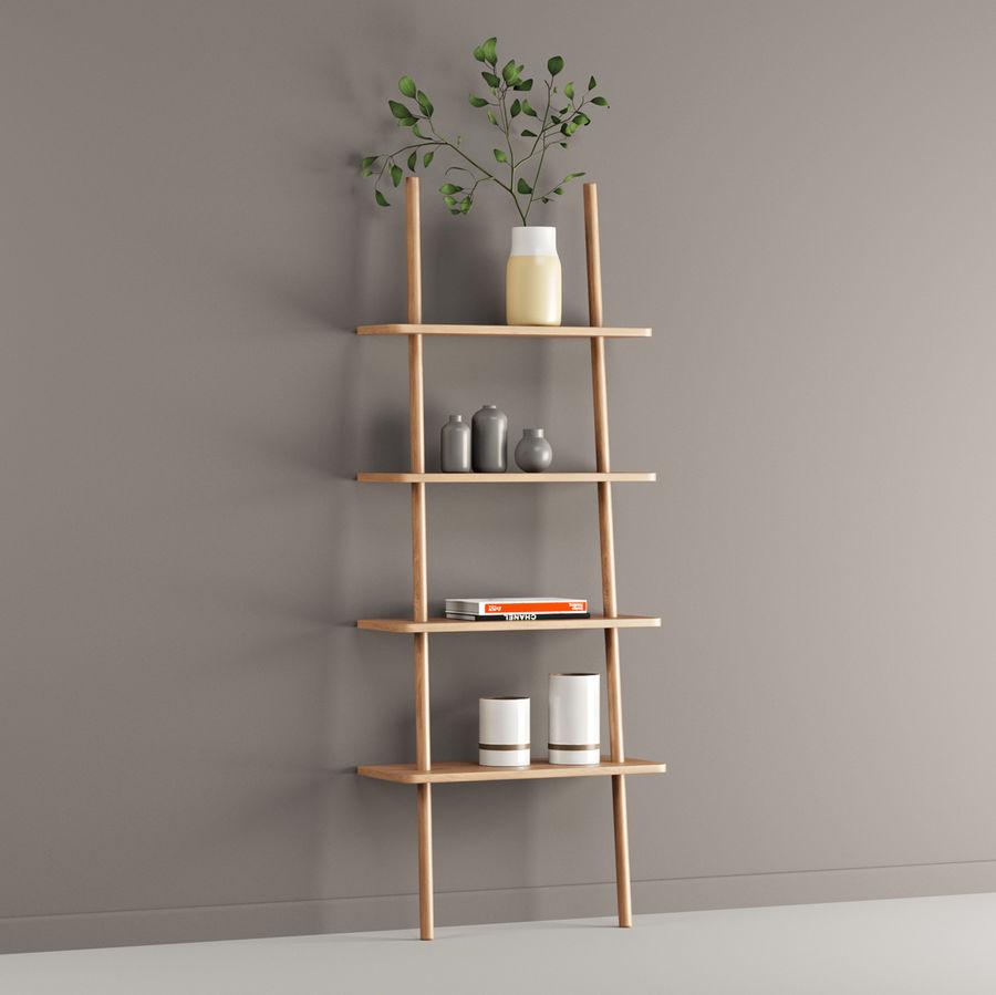 Oak Display Shelf royalty-free 3d model - Preview no. 4