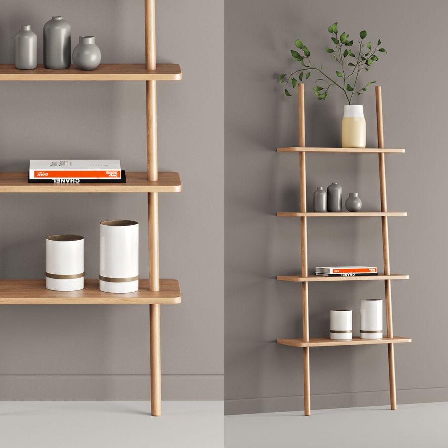 Oak Display Shelf royalty-free 3d model - Preview no. 1