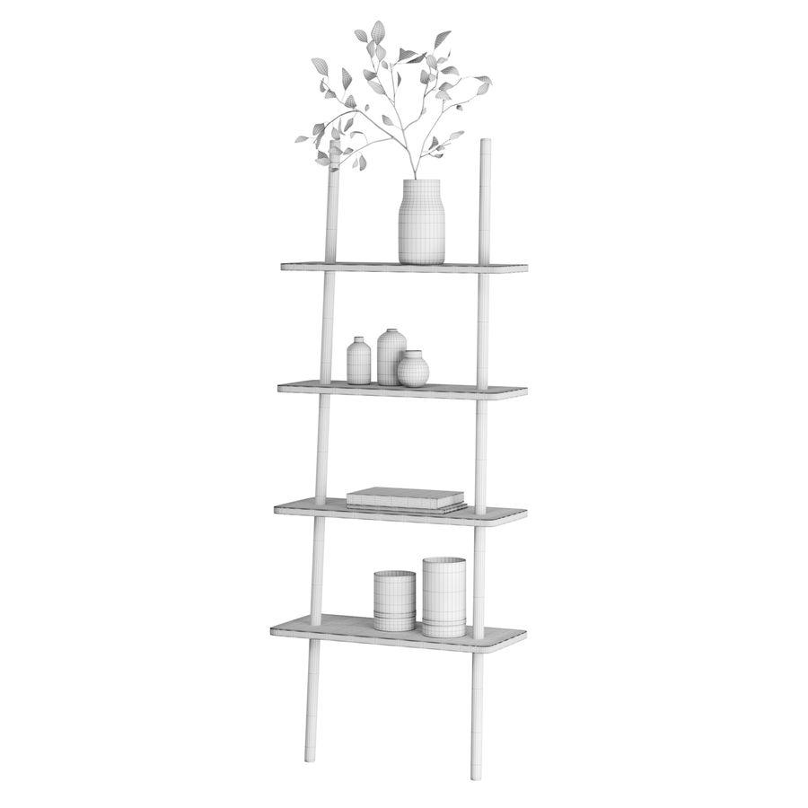 Oak Display Shelf royalty-free 3d model - Preview no. 7