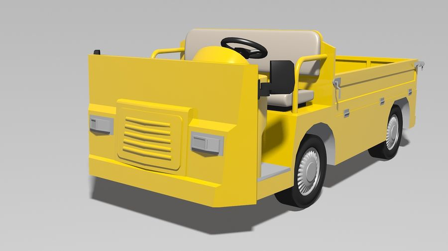 Vehículo industrial eléctrico royalty-free modelo 3d - Preview no. 4