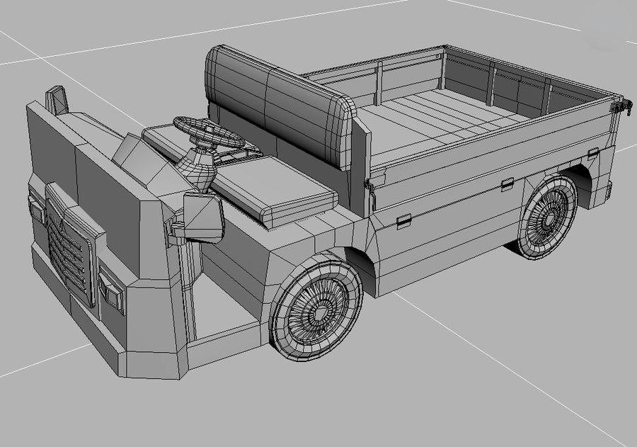 Vehículo industrial eléctrico royalty-free modelo 3d - Preview no. 5