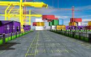 3D Seehafen Low-Poly 3d model