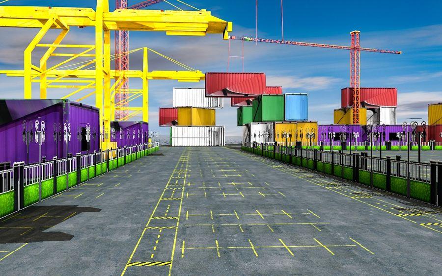 3D Liman Düşük Poli royalty-free 3d model - Preview no. 1