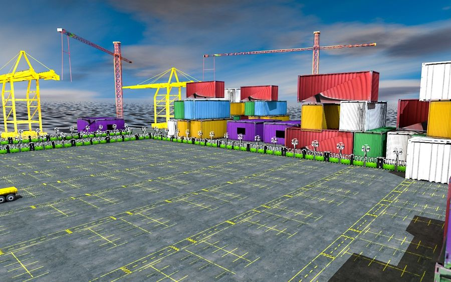 3D Liman Düşük Poli royalty-free 3d model - Preview no. 2