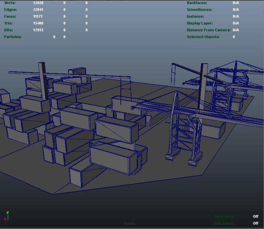 3D Liman Düşük Poli royalty-free 3d model - Preview no. 7
