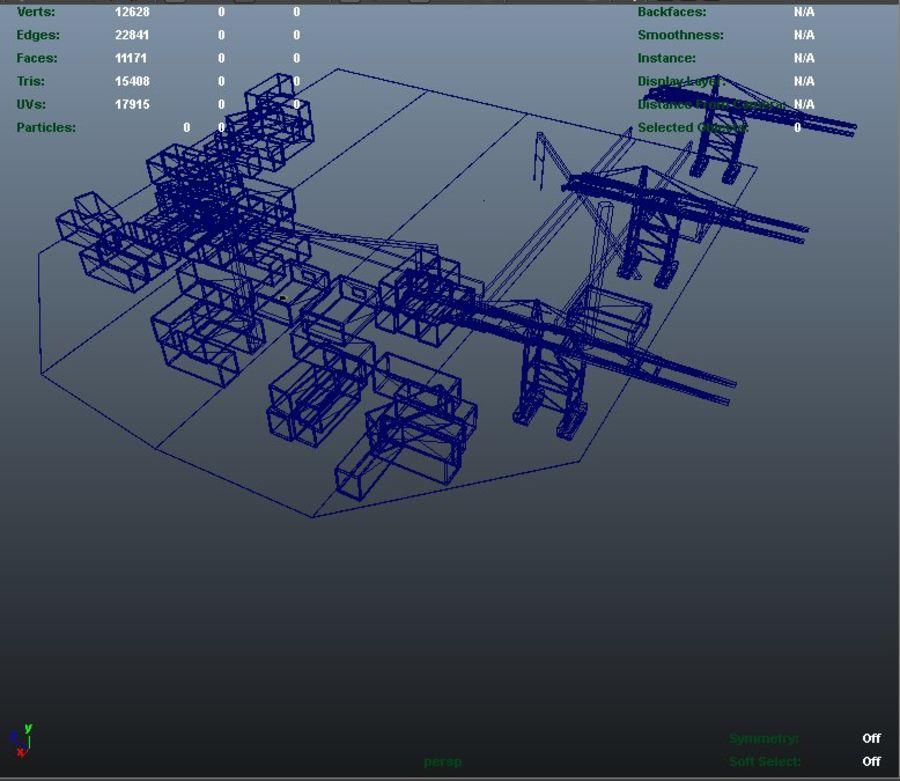 3D Liman Düşük Poli royalty-free 3d model - Preview no. 8