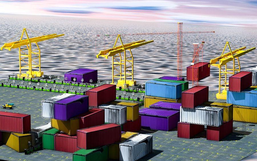 3D Liman Düşük Poli royalty-free 3d model - Preview no. 5