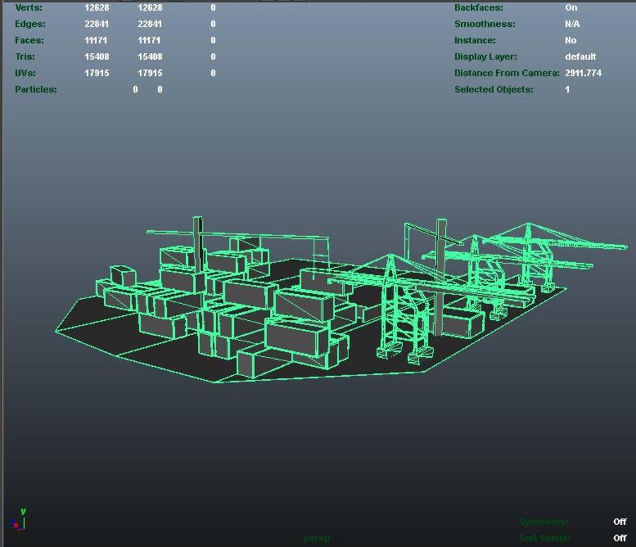 3D Liman Düşük Poli royalty-free 3d model - Preview no. 6