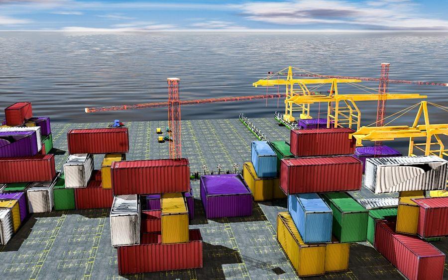 3D Liman Düşük Poli royalty-free 3d model - Preview no. 4