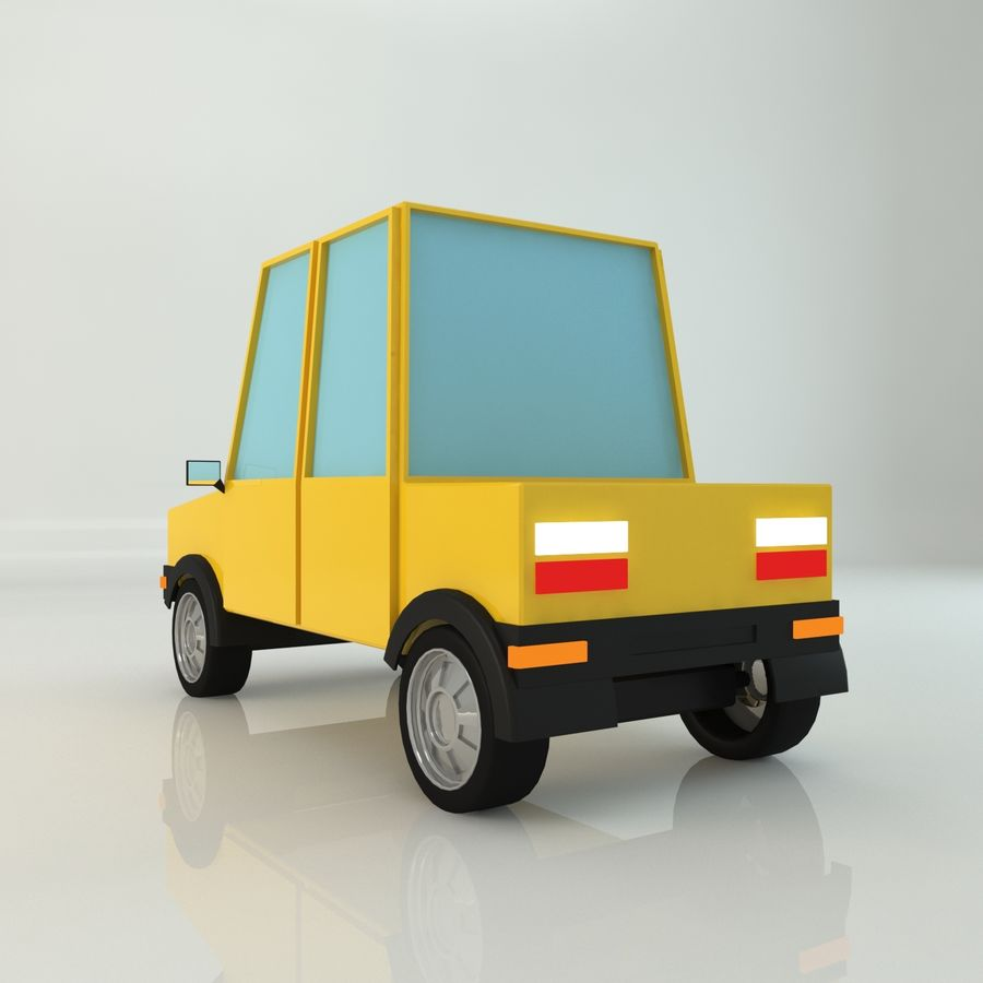 Voiture basse poly royalty-free 3d model - Preview no. 2