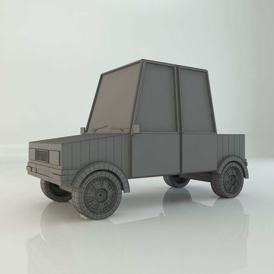 Voiture basse poly royalty-free 3d model - Preview no. 7