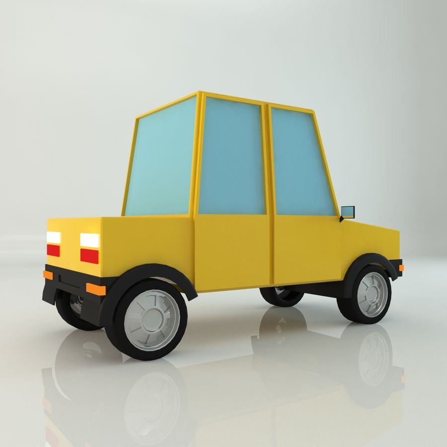 Voiture basse poly royalty-free 3d model - Preview no. 4