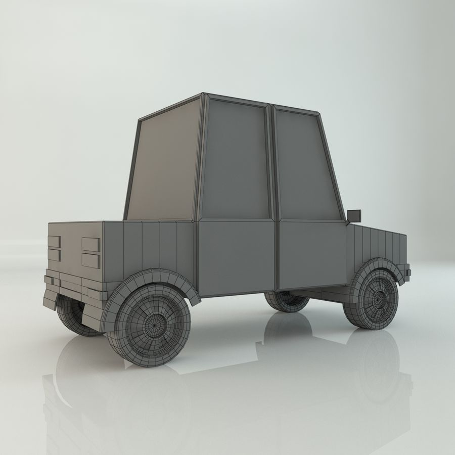 Voiture basse poly royalty-free 3d model - Preview no. 8