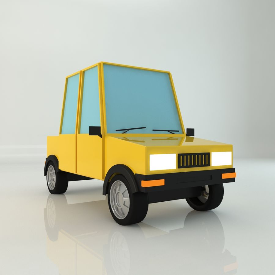 Voiture basse poly royalty-free 3d model - Preview no. 1
