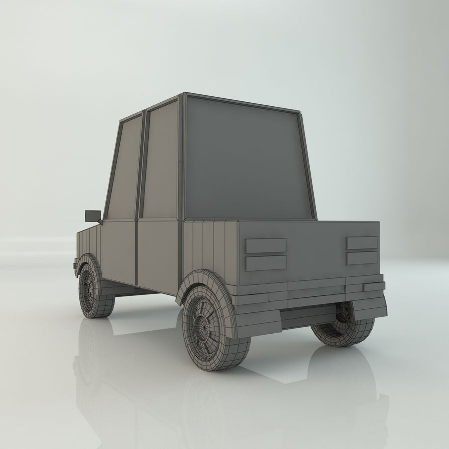Voiture basse poly royalty-free 3d model - Preview no. 6