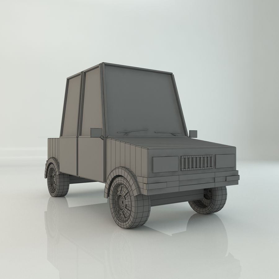 Voiture basse poly royalty-free 3d model - Preview no. 5