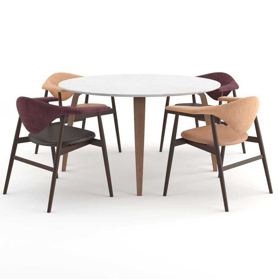 Masculo Chair + TS Table by GUBI royalty-free 3d model - Preview no. 2